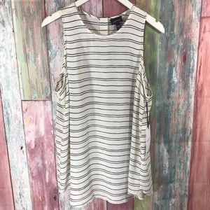 NWTS Who What Wear striped tunic Top